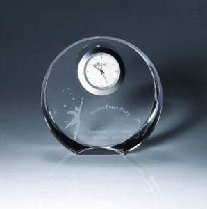 Optic Crystal Corona Clock